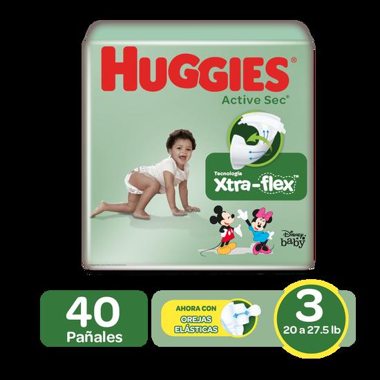 Pañales Huggies Active Sec Size 3; 40uds