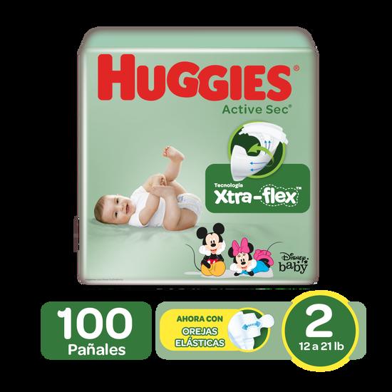 Pañales Huggies Active Sec Size 2; 100uds
