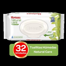Toallitas Húmedas Huggies Natural Care; 32uds