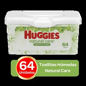 Toallitas Húmedas Huggies Natural Care; 64uds