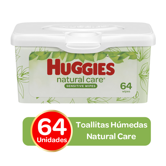 Toallitas Húmedas Huggies Natural Care; 64uds