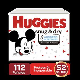 Pañales Huggies Snug&Dry Size 2; 112 uds