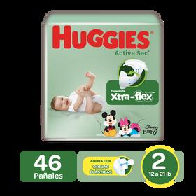 Pañales Huggies Active Sec Size 2; 46uds