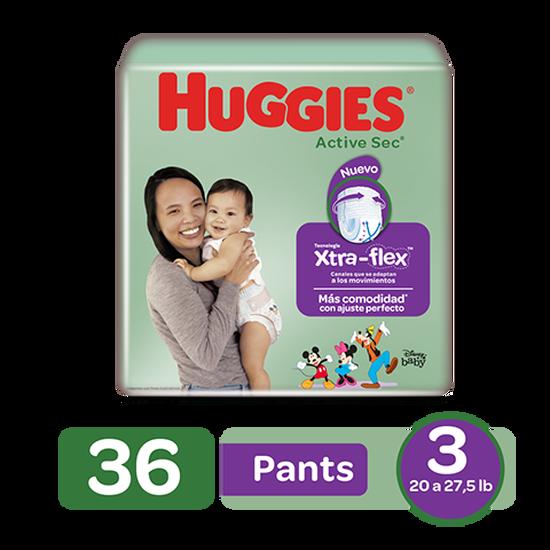Pants Huggies Active Sec Xtra-Flex Size 3; 36uds
