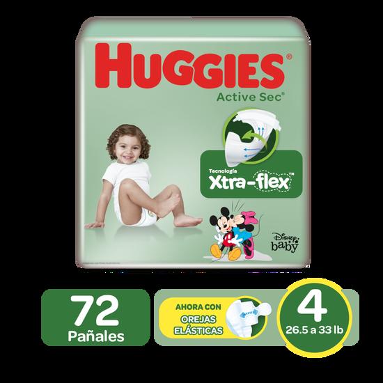 Pañales Huggies Active Sec Size 4; 72uds