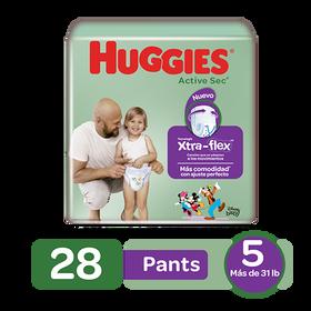 Pants Huggies Active Sec Xtra-Flex Size 5; 28uds