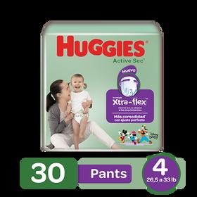 Pants Huggies Active Sec Xtra-Flex Size 4; 30uds