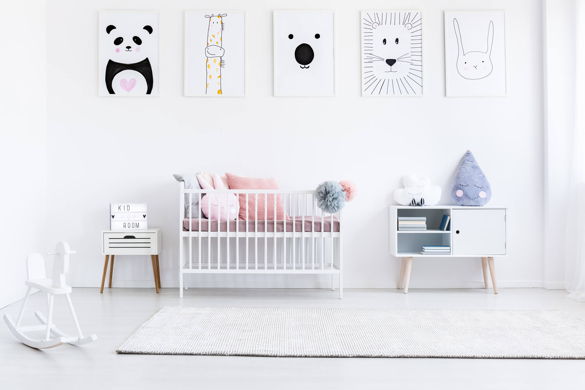 Piezas para bebés con arcoiris