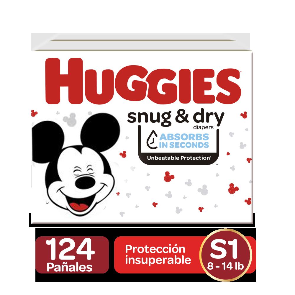 Pañales Huggies Snug&Dry Size 1; 124uds
